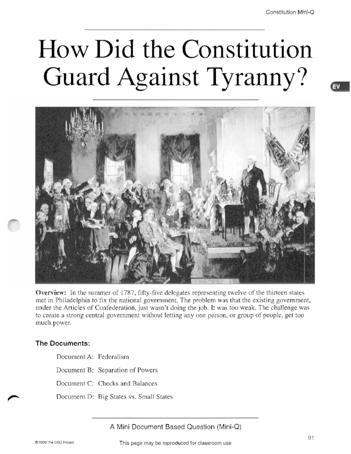 how did the constitution guard against tyranny