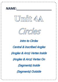 Geometry] Unit 4a: Circles - Test Review Quiz - Quizizz