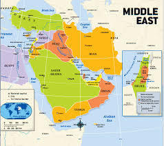 Middle East Countries and Capitals Map Quiz Review Quiz