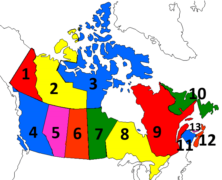 Provinces And Capitals Of Canada Map.Canadian Provinces Territories And Capitals Map Quiz