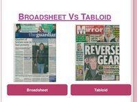broadsheet vs tabloid language