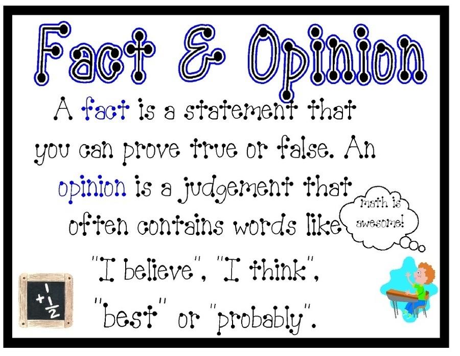Fact or Opinion? Practice 2 | Grammar Quiz - Quizizz