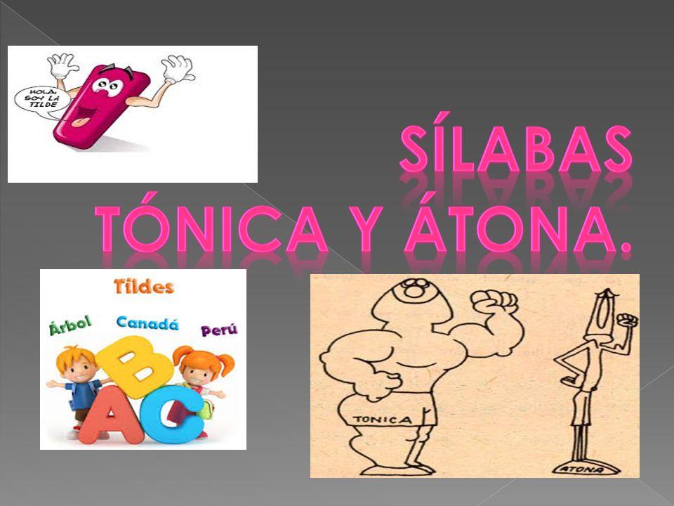 Sílaba Tónica Y átona Arts Quizizz