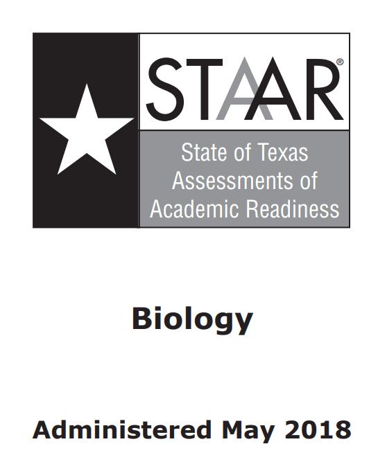 STAAR 2018 Biology 1 (B) | Biology Quiz - Quizizz